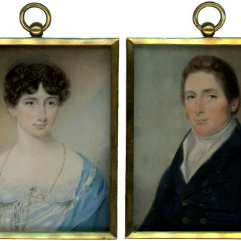 A fine pair of portraits by Isaac Wane Slater