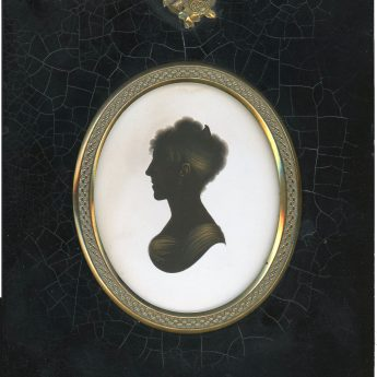 John Field, painted and gilded silhouette of an elegant Regency lady