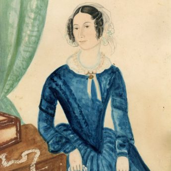 Provincial School watercolour portrait of a lady