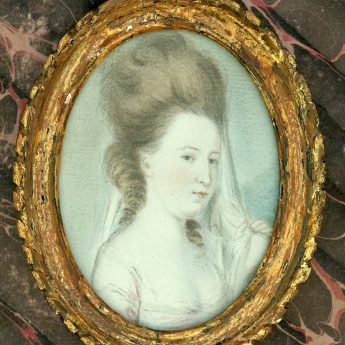 18th Century Small Pastel Portrait