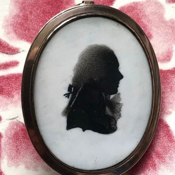 Jewellery silhouette of a gentleman by Isabella Beetham