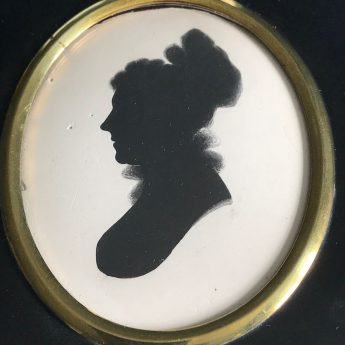 Silhouette painted on plaster by John Smith of Edinburgh