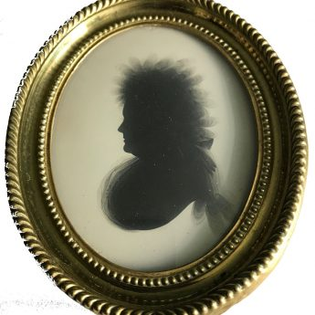 18th Century Painted Silhouette on Plaster by J. Thomason of Dublin