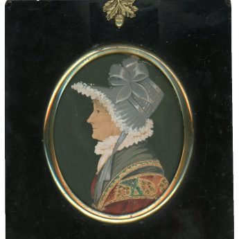 Watercolour profile of Lady Chinnery Tooth