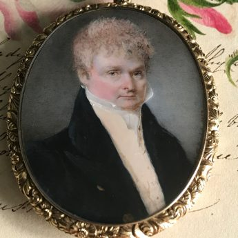 Fine Miniature Portrait of a Georgian Gentleman by P. G. Dodds