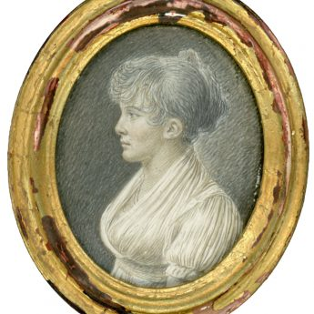 Silver point portrait of a lady by Muller