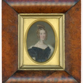 Miniature portrait of a lady attributed to William Egley
