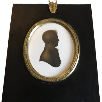 John Field, painted and gilded silhouette of a boy