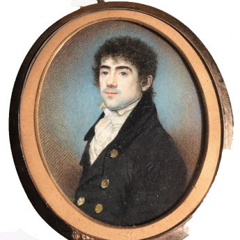 Miniature portrait of a gentleman by Charles Jagger