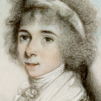 Miniature portrait of a lady attributed to Thomas Peat