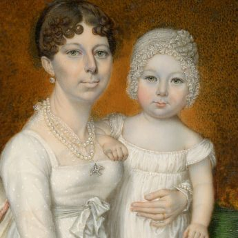 Miniature Portrait of a mother and child by Walter Stephens Lethbridge