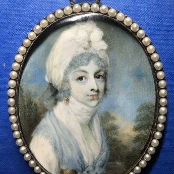 Miniature portrait of a lady by George Place