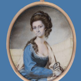 Miniature portrait of the artist's wife by Philip Jean