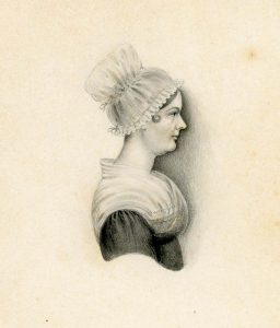 Painted profile of Elizabeth Pole