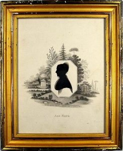Thomas Pole, painted silhouette of Ann Payne