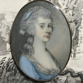 Miniature portrait of a ladt attributed to John Donaldson