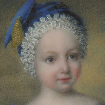 Miniature portrait of a boy by Jean Christian Valois