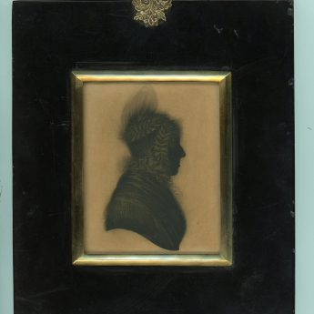 Silhouette painted on card by John Field of the Strand