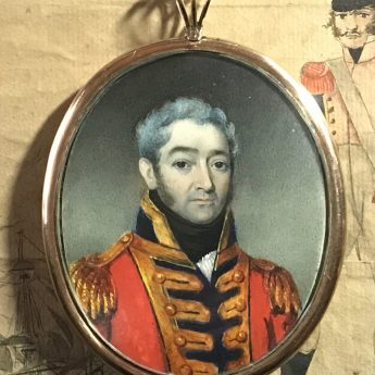 Miniature portrait of a field officer in uniform