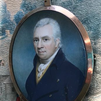 Miniature portrait of a gentleman by Charles Hardy, 1802