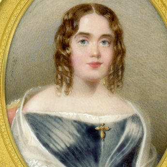 Miniature portrait of a young lady by Herve