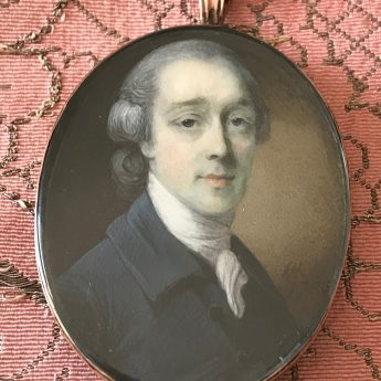 Horace Hone, miniature portrait of Thomas Treslove, signed and dated