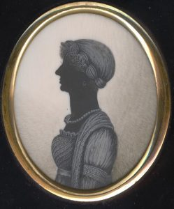 Silhouette painted on ivory by Thomas London