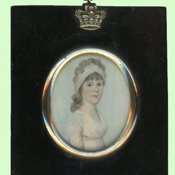 Miniature portrait of a lady by Frederick Buck