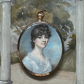 Miniature portrait of a lady by Charles Hayter