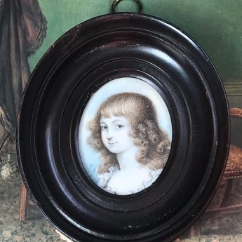 Portrait miniature of a child by Sophia Howell, 1795