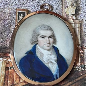 Miniature portrait of a gentleman by Thomas Hull