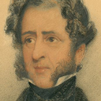 Watercolour portrait attributed to George Richmond