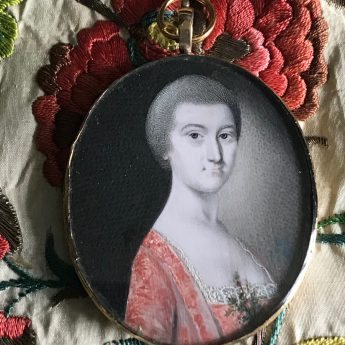 Miniature portrait of a lady by Gervase Spencer