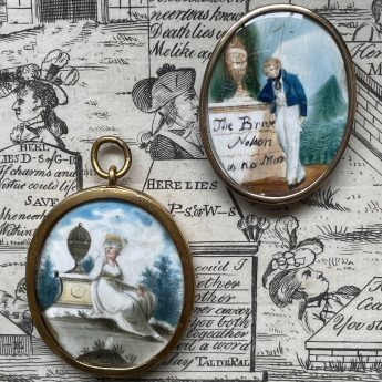 Miniature painted Nelson memorial tokens