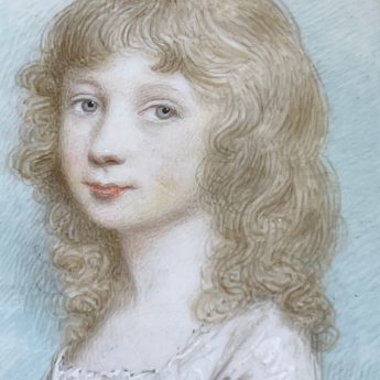 Minaiture portrait of a child by Andrew Plimer