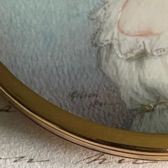 Miniature portrait of a lady by David Gibson