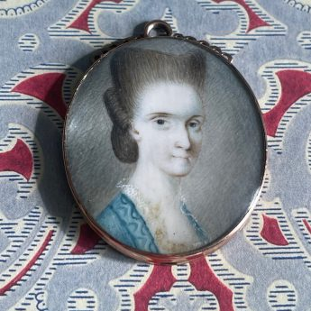 Miniature portrait of a coiffured lady