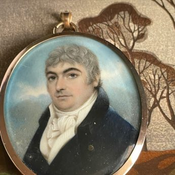 Portrait miniature of a gentleman by Nathaniel Plimer