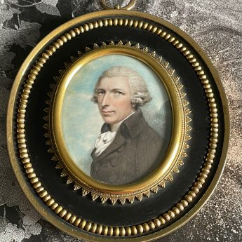 Miniature portrait of a gentleman by Andrew Plimer